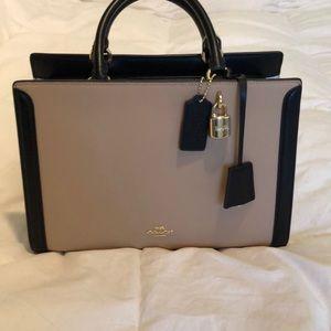 Lock and key coach tri color/ color block purse